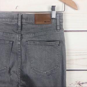 MADEWELL gray Cali Demi boot raw hem jeans 25